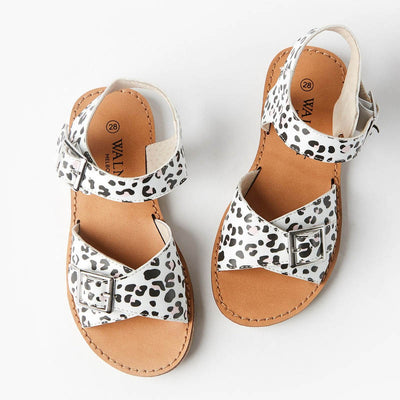 WALNUT MELBOURNE Girls Ryder Leopard Sandals