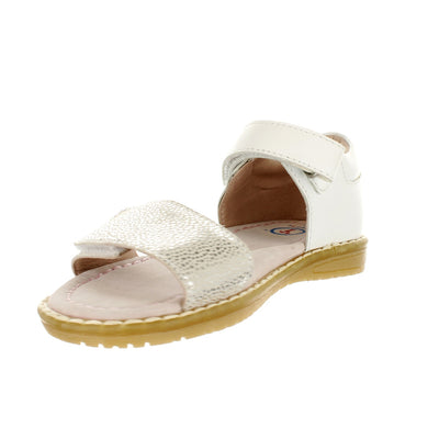 SUREFIT Madison White Girls Sandals