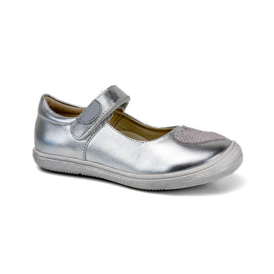 SUREFIT Marina Silver Leather Mary Janes