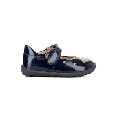 SUREFIT Heart Navy Leather Mary Janes