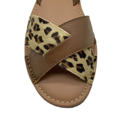 POPA Women's Leopard & Tan Sandals