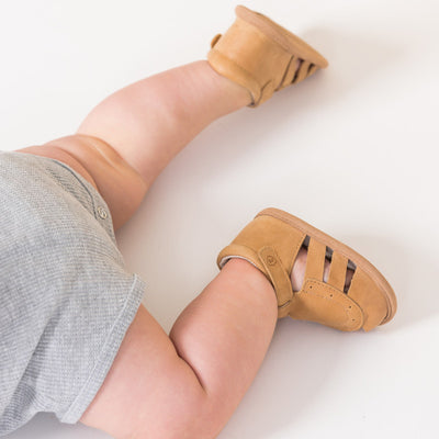 PRETTY BRAVE Charlie Tan Baby Sandals
