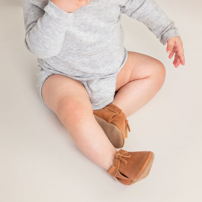 PRETTY BRAVE Natural Moc Baby Shoes