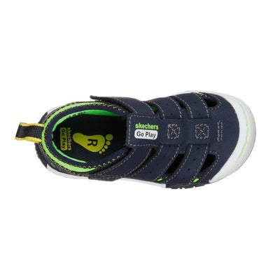 SKECHERS Flex Play Solar Steps Navy & Lime Sandals