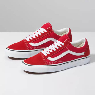 VANS Womens Old Skool Racing Red