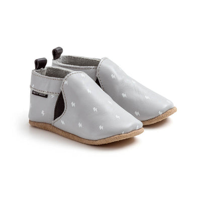 PRETTY BRAVE Slip On Grey Baby Shoes