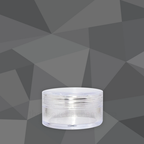 Plastic Cream Jar (Round, Clear) - Craftology Essentials - Philippines