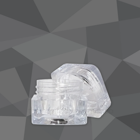 Plastic Cream Jar (Square, Clear) - Craftology Essentials - Philippines