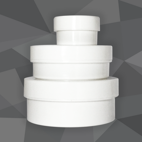 Plastic Tub Jar (Round, White) - Craftology Essentials - Philippines