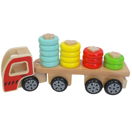 Discoveroo Truck Sort N Stack Wooden - K and K Creative Toys