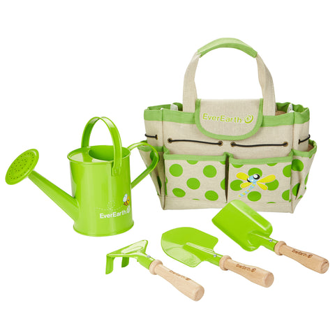 Everearth Garden Bag with Watering Can and Tools - K and K Creative Toys