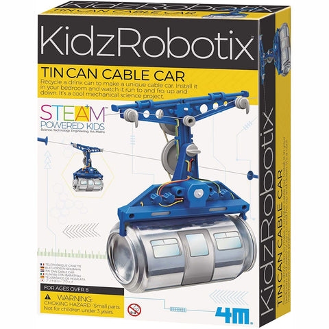 4M Kidz Robotix Tin Can Cable Car Kit
