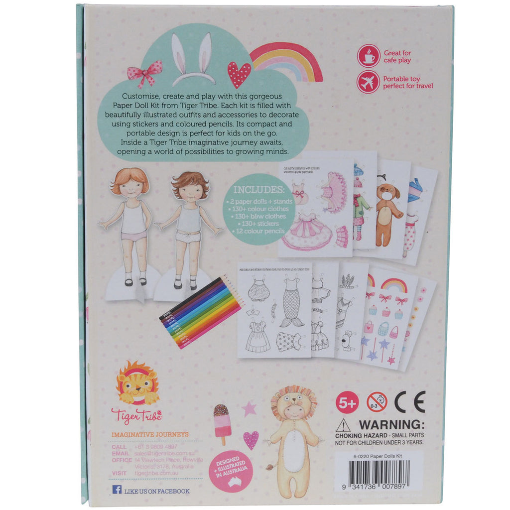 Tiger Tribe Paper Dolls Kit 1