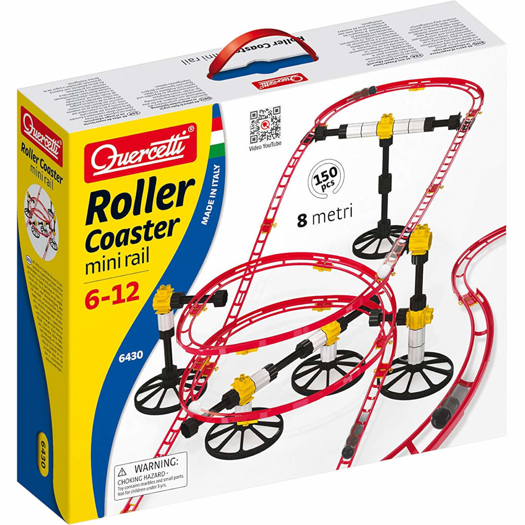 Quercetti Roller Coaster Mini Rail Marble Run 150pc