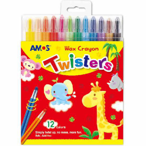 AMOS Crayons Wax Twisters 12pcs