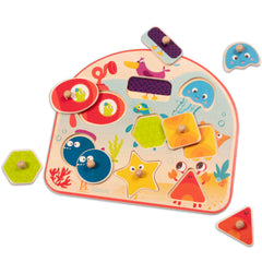 B Toys by Battat Puzzle Sea Treasures Wooden 8pc 2