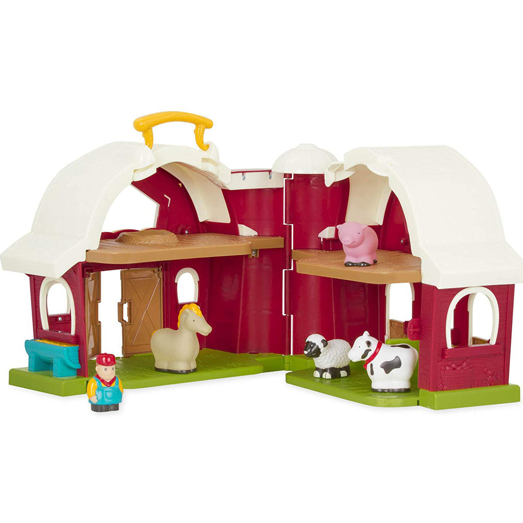 Battat Big Red Barn with Farmer and 4 Animals 2