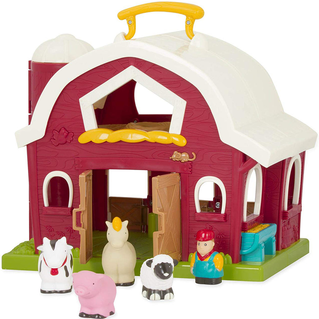 Battat Big Red Barn with Farmer and 4 Animals
