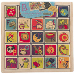 Battat Magnetic Alphabetic Tiles with Blackboard Wooden 1