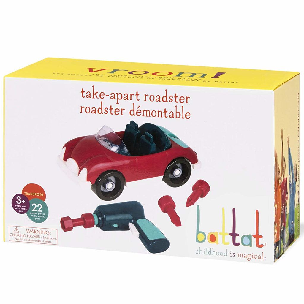 Battat Take Apart Roadster Red 1