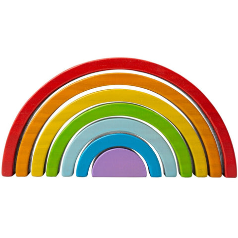 BigJigs Stacking Rainbow Wooden Small  7pc