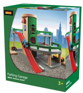 Brio Parking Garage Wooden with Accessories