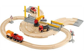 Brio Rail and Road Crane Set - K and K Creative Toys