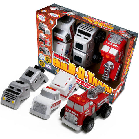 Popular Playthings Magnetic Build a Truck Emergency