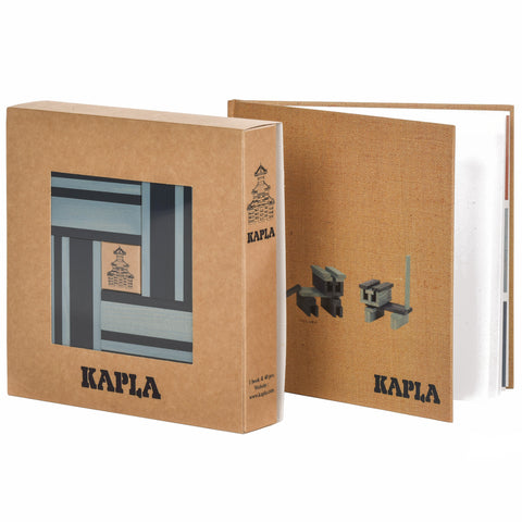 KAPLA Set Light and Dark Blue with Book