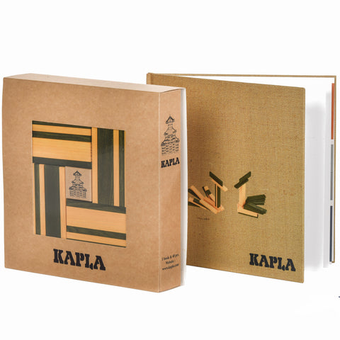 KAPLA Set Yellow and Green with Book