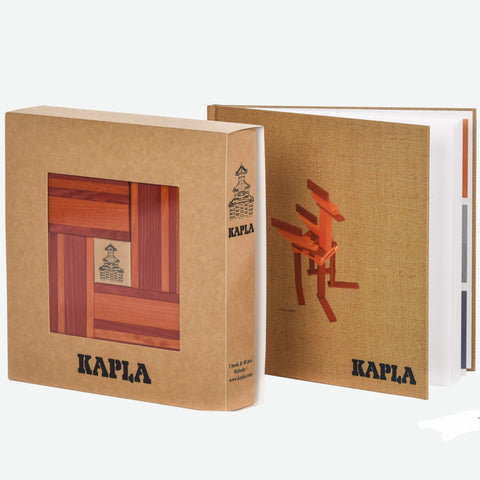 KAPLA Set Red and Orange with Book