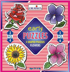 Creatives Puzzle Early Flowers 3,4,5,6pc - K and K Creative Toys