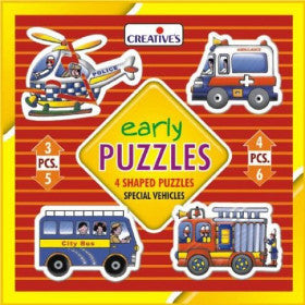 Creatives Puzzle Early Special Vehicles 4x 3-6pcs