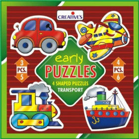 Creatives Puzzle Early Transport 4 Puzzles 3,4,5,6pcs - K and K Creative Toys