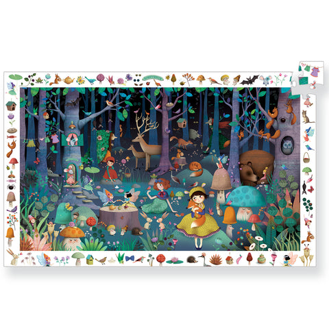 Djeco Puzzle Observation Enchanted Forest 100pc - K and K Creative Toys