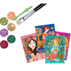 Djeco The Scent Of Flowers Glitter Boards 1