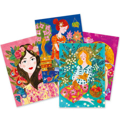 Djeco The Scent Of Flowers Glitter Boards 2