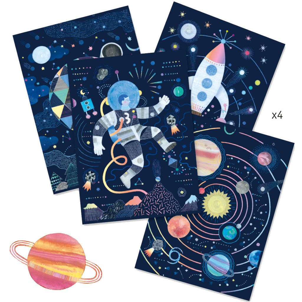 Djeco Cosmic Mission Scratch Cards 1