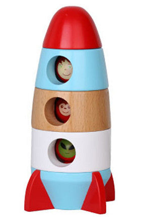 Discoveroo Magnetic Stacking Rocket Wooden - K and K Creative Toys