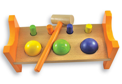 Discoveroo Peg N Ball Smackeroo Wooden - K and K Creative Toys