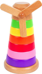 Discoveroo Windmill Stackeroo Wooden - K and K Creative Toys