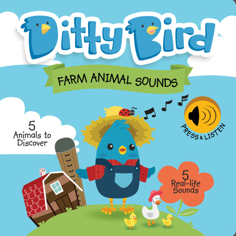 Ditty Bird Farm Animal Sounds Book