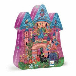 Djeco Puzzle Fairy Castle Silhouette Puzzle 54pc - K and K Creative Toys