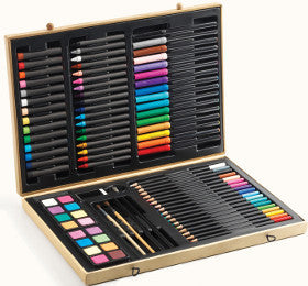 Djeco Big Box of Colours Pencils Crayons Paints and More - K and K Creative Toys