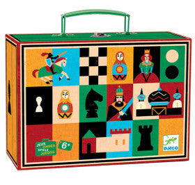 Djeco Chess and Checkers in Case - K and K Creative Toys