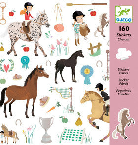 Djeco Stickers Horse 160pc