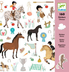 Djeco Stickers Horse 160pc - K and K Creative Toys