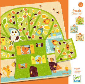 Djeco Puzzle Tree House 3 Layers - K and K Creative Toys