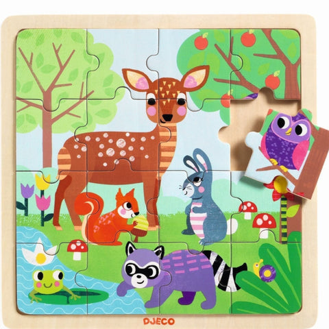 Djeco Puzzle Forest 16pc