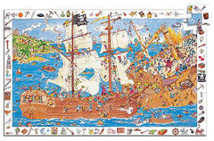 Djeco Puzzle Discovery Pirate 100pc - K and K Creative Toys